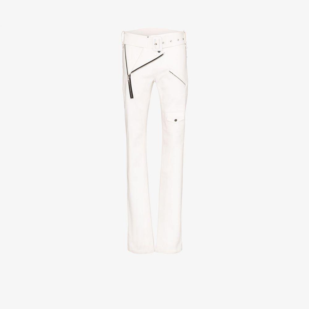 ジルヴァー Zilver レディース ボトムス・パンツ 【slim leg biker trousers】white