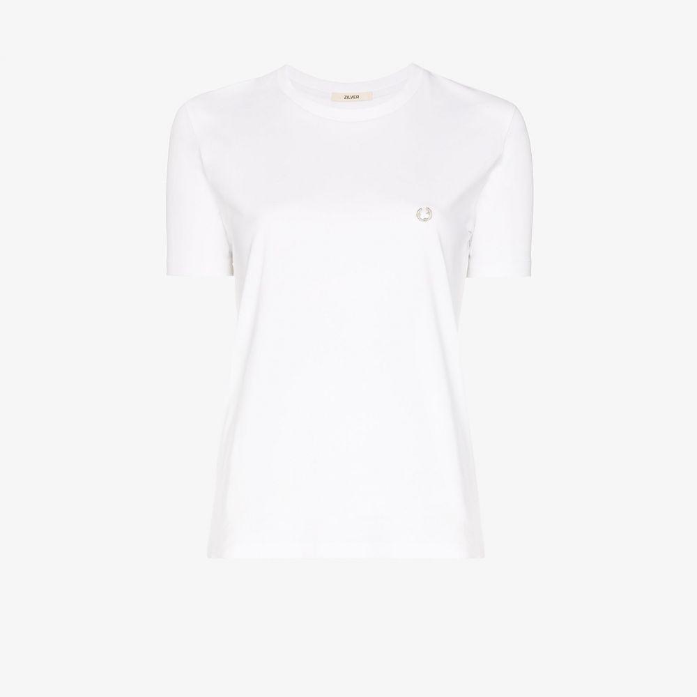 ジルヴァー Zilver レディース Tシャツ トップス【piercing cotton t-shirt】white
