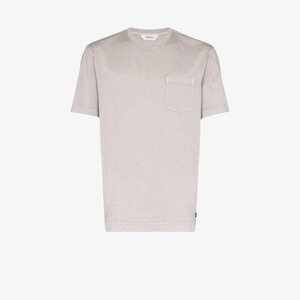 ジーゼニア Z Zegna メンズ Tシャツ トップス【short sleeve cotton T-shirt】grey