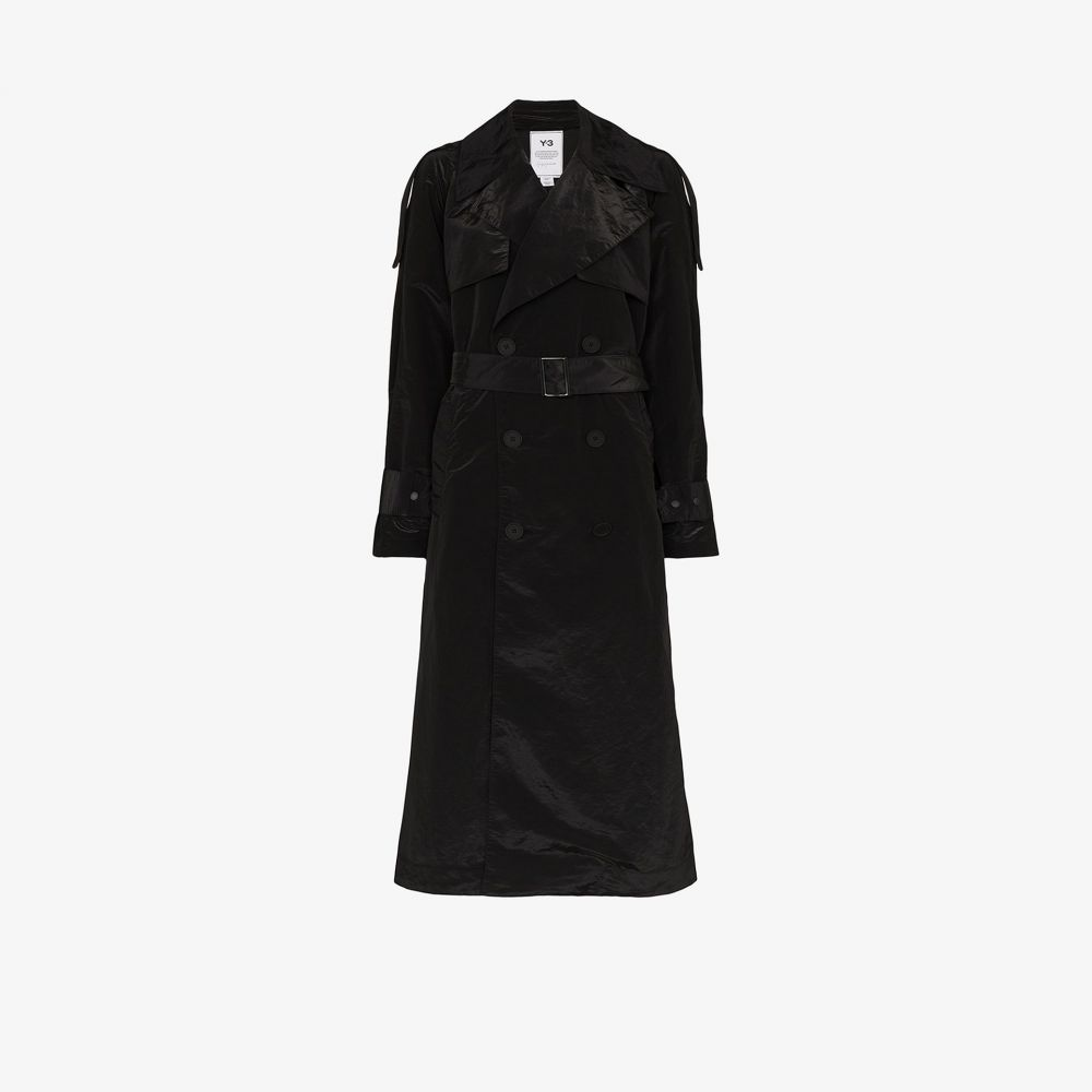 ワイスリー Y-3 レディース トレンチコート アウター【crepe de Chine trench coat】black