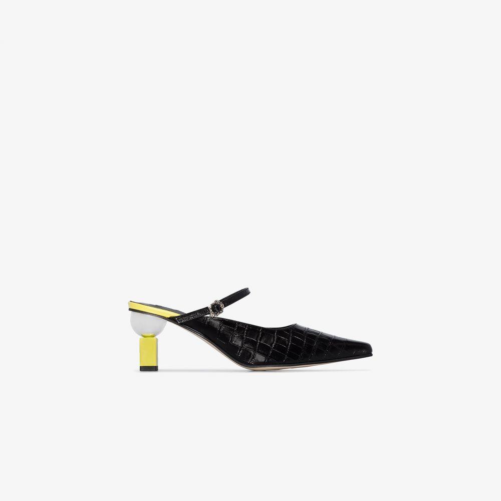 ユルイエ Yuul Yie レディース サンダル・ミュール シューズ・靴【black Peyton 70 mock croc mary jane mules】black