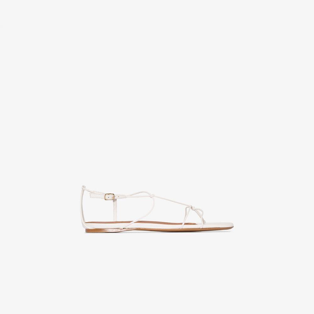ジマーマン Zimmermann レディース サンダル・ミュール フラット シューズ・靴【white strap flat leather sandals】white