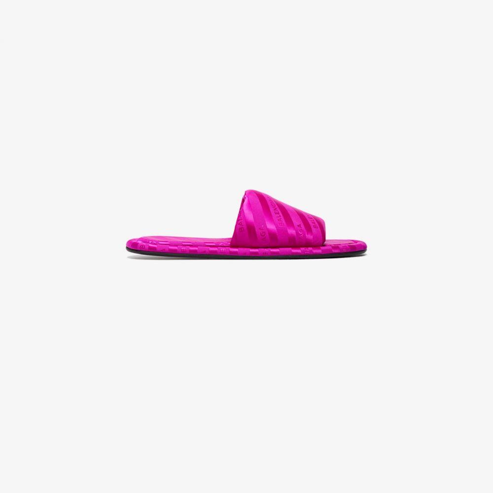 バレンシアガ Balenciaga レディース サンダル・ミュール シューズ・靴【Pink Hotel Satin Slides】pink