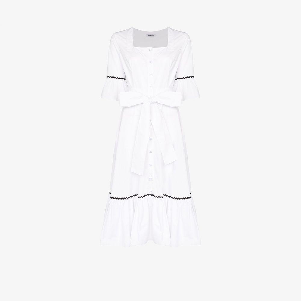 バットシェヴァ Batsheva レディース ワンピース ワンピース・ドレス【Delsy belted dress】white