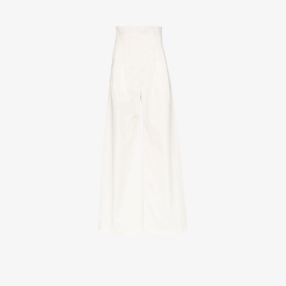 アウェイク モード A.W.A.K.E. Mode レディース ボトムス・パンツ ワイドパンツ【Wide leg gathered waist trousers】white