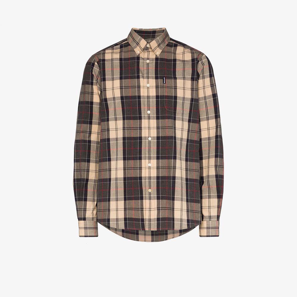 バブアー Barbour メンズ シャツ トップス【Sandwood check cotton shirt】grey