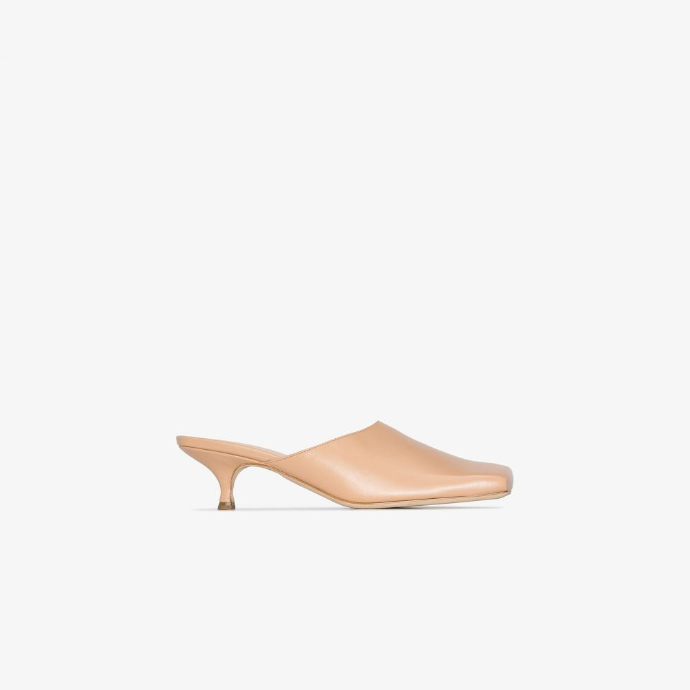 アウェイク モード A.W.A.K.E. Mode レディース サンダル・ミュール スクエアトゥ シューズ・靴【Nude Clio 30 square toe leather mules】neutrals