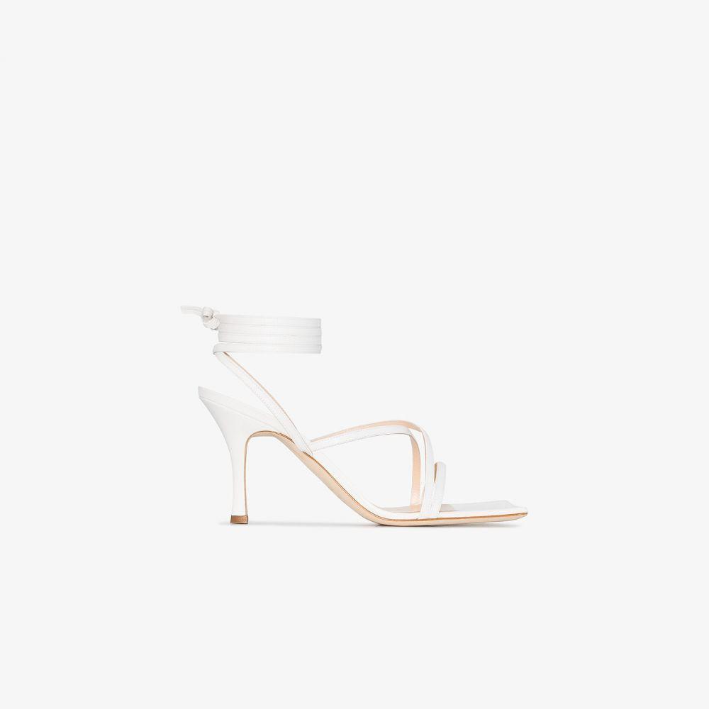 アウェイク モード A.W.A.K.E. Mode レディース サンダル・ミュール シューズ・靴【white Ophelia 80 leather sandals】white