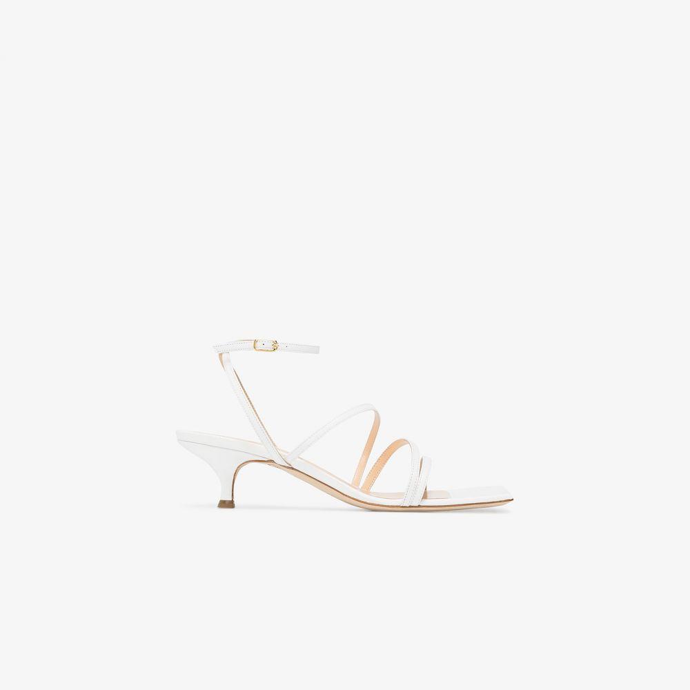 アウェイク モード A.W.A.K.E. Mode レディース サンダル・ミュール シューズ・靴【white Maya 30 leather sandals】white