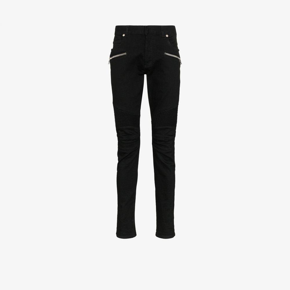 バルマン Balmain メンズ ジーンズ・デニム ボトムス・パンツ【zip slim fit jeans】black