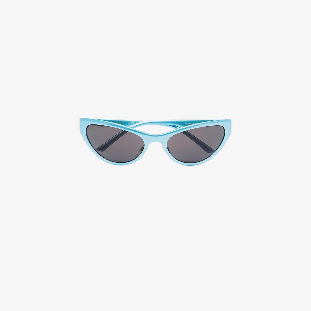 バレンシアガ Balenciaga Eyewear メンズ メガネ・サングラス 【Blue cat eye sunglasses】blue