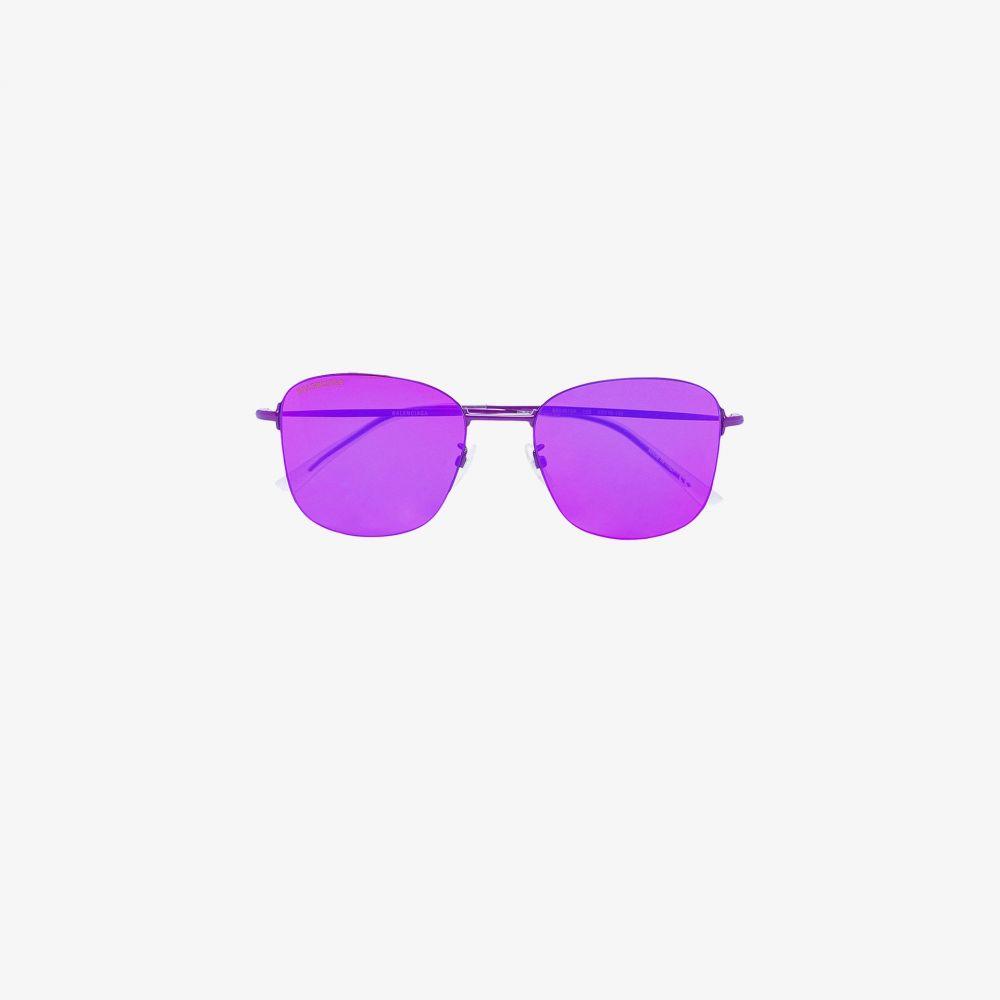 バレンシアガ Balenciaga Eyewear レディース メガネ・サングラス スクエアフレーム【Pink Invisible square sunglasses】pink