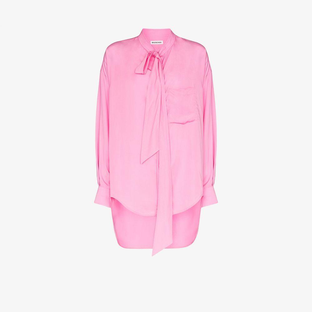 バレンシアガ Balenciaga レディース ブラウス・シャツ トップス【New Swing logo print shirt】metallic