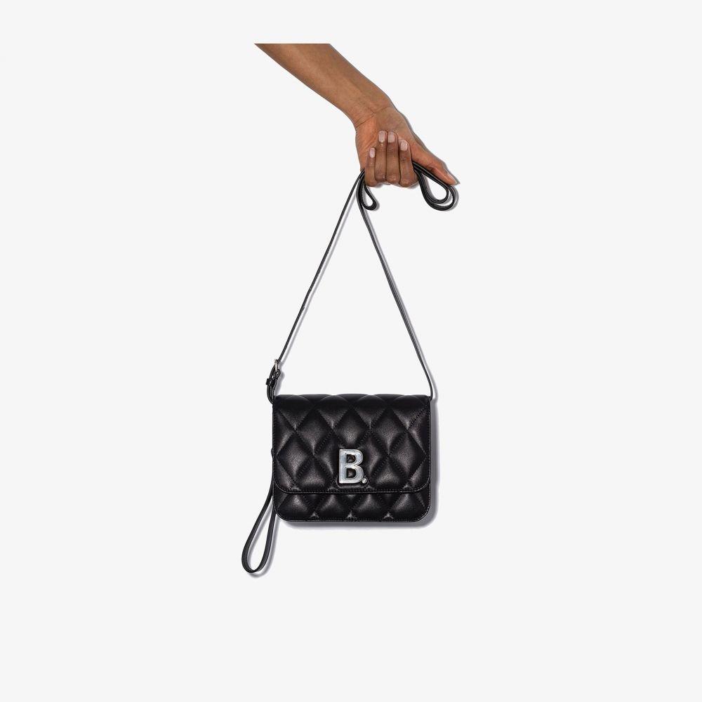 バレンシアガ Balenciaga レディース ショルダーバッグ バッグ【Black quilted leather cross body bag】black
