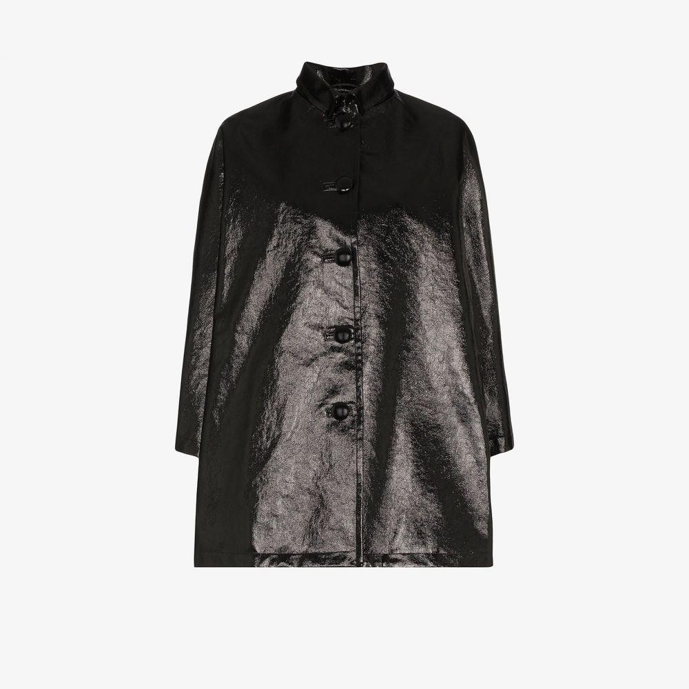 バレンシアガ Balenciaga レディース コート アウター【faux leather opera coat】black