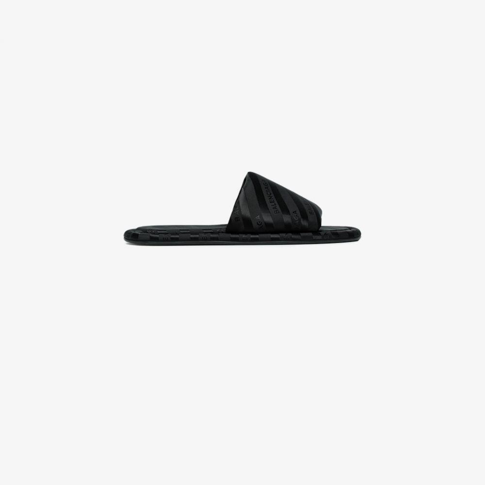 バレンシアガ Balenciaga レディース サンダル・ミュール シューズ・靴【Black Hotel Satin Slides】black