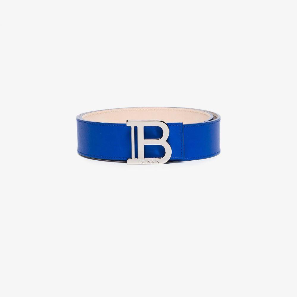 バルマン Balmain レディース ベルト 【blue B buckle leather belt】blue