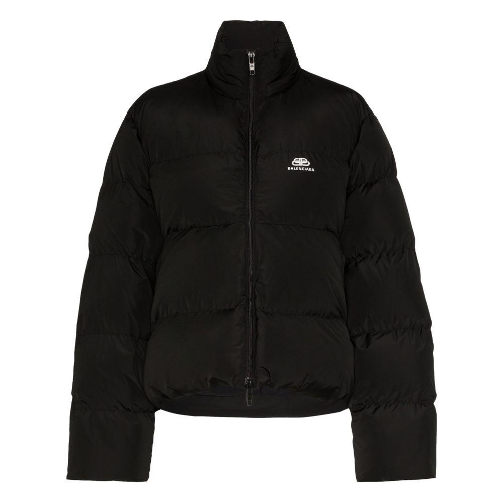 バレンシアガ Balenciaga レディース ダウン・中綿ジャケット アウター【C-Shape logo puffer jacket】black