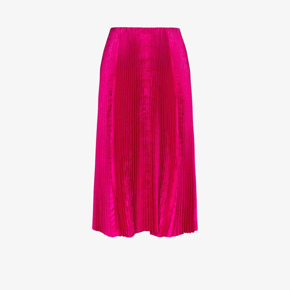 バレンシアガ Balenciaga レディース ひざ丈スカート スカート【pleated printed midi skirt】pink