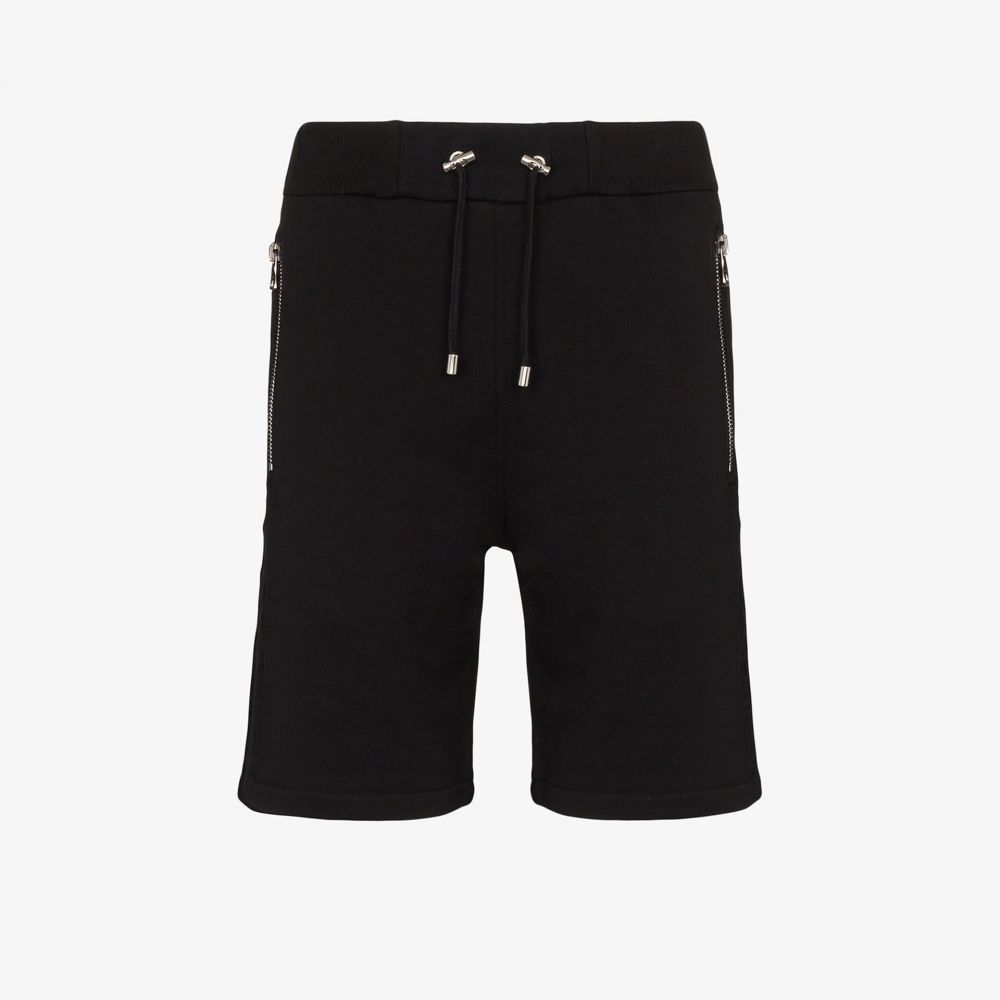 バルマン Balmain メンズ ショートパンツ ジャージ ボトムス・パンツ【embossed logo cotton track shorts】black