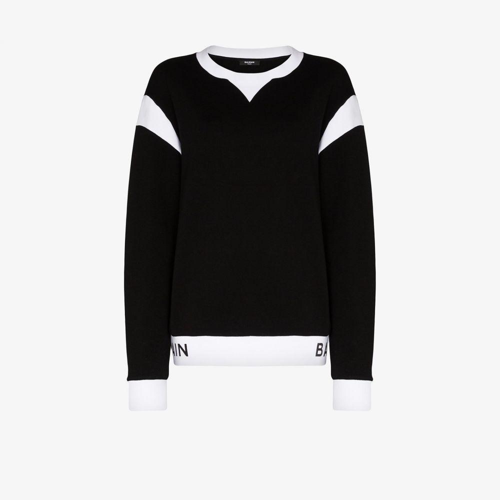 バルマン Balmain メンズ シャツ トップス【two tone cotton sweatshirt】black