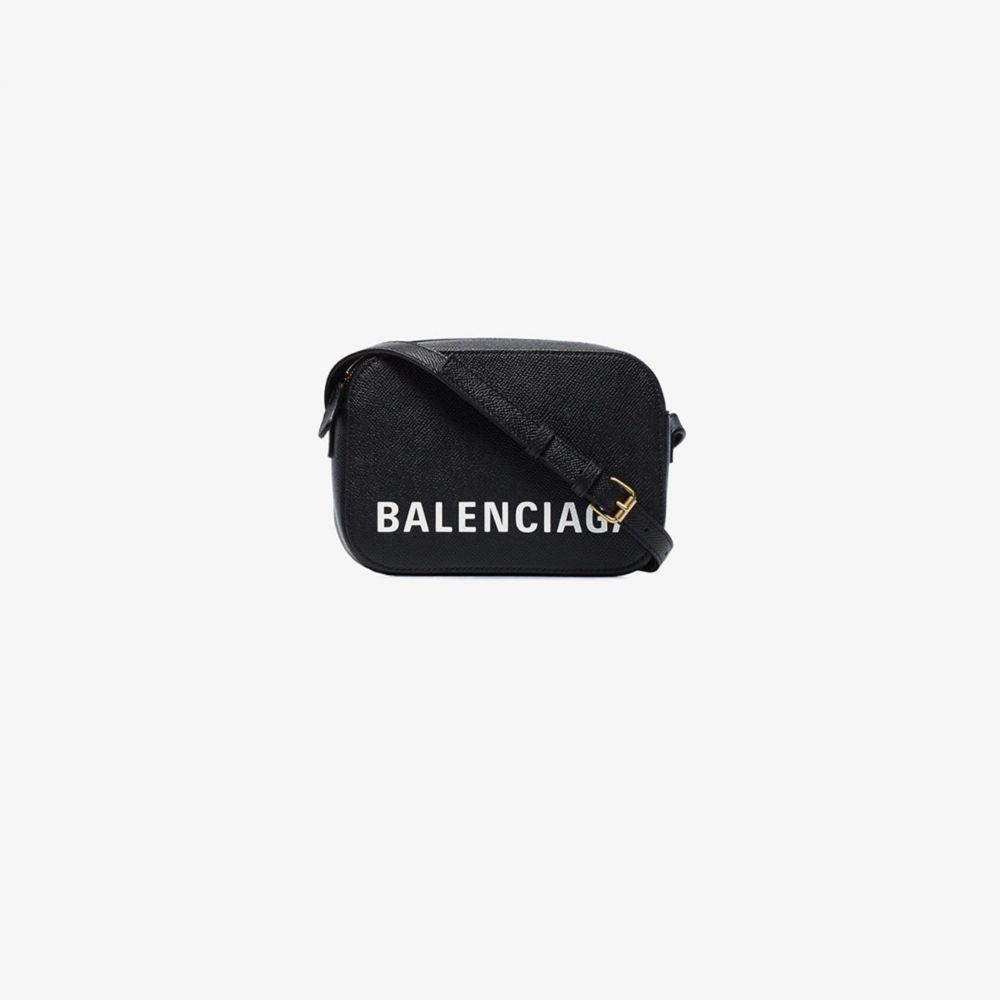 バレンシアガ Balenciaga レディース ショルダーバッグ バッグ【black ville leather cross body bag】black