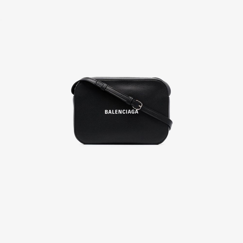 バレンシアガ Balenciaga レディース ショルダーバッグ カメラバッグ バッグ【black everyday logo leather camera bag】black