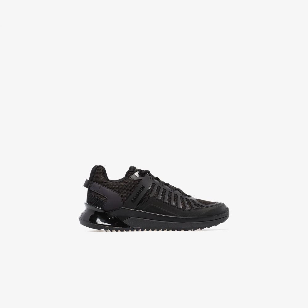 バルマン Balmain メンズ スニーカー シューズ・靴【Black trail sneakers】black