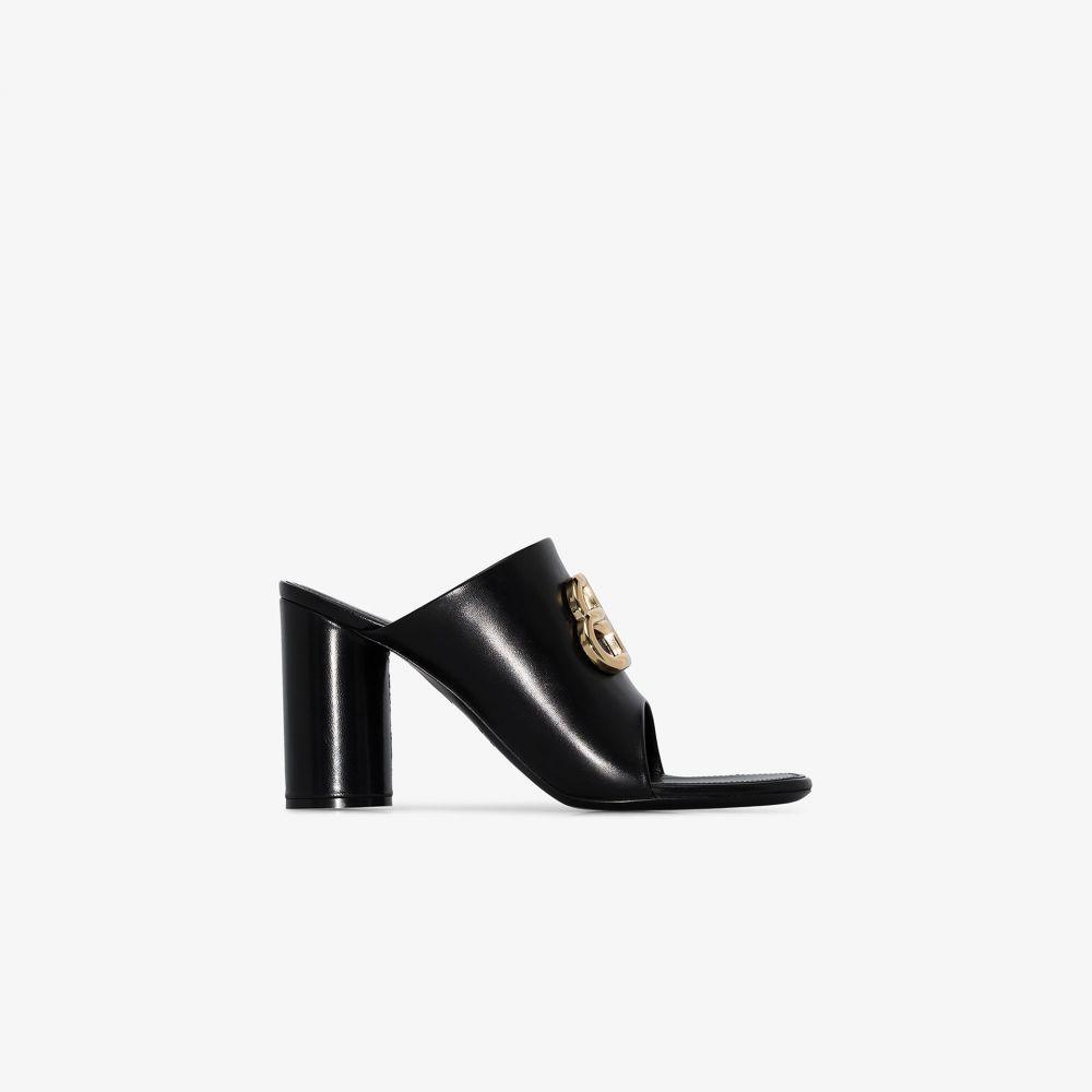 バレンシアガ Balenciaga レディース サンダル・ミュール シューズ・靴【Black Oval 90 leather sandals】black