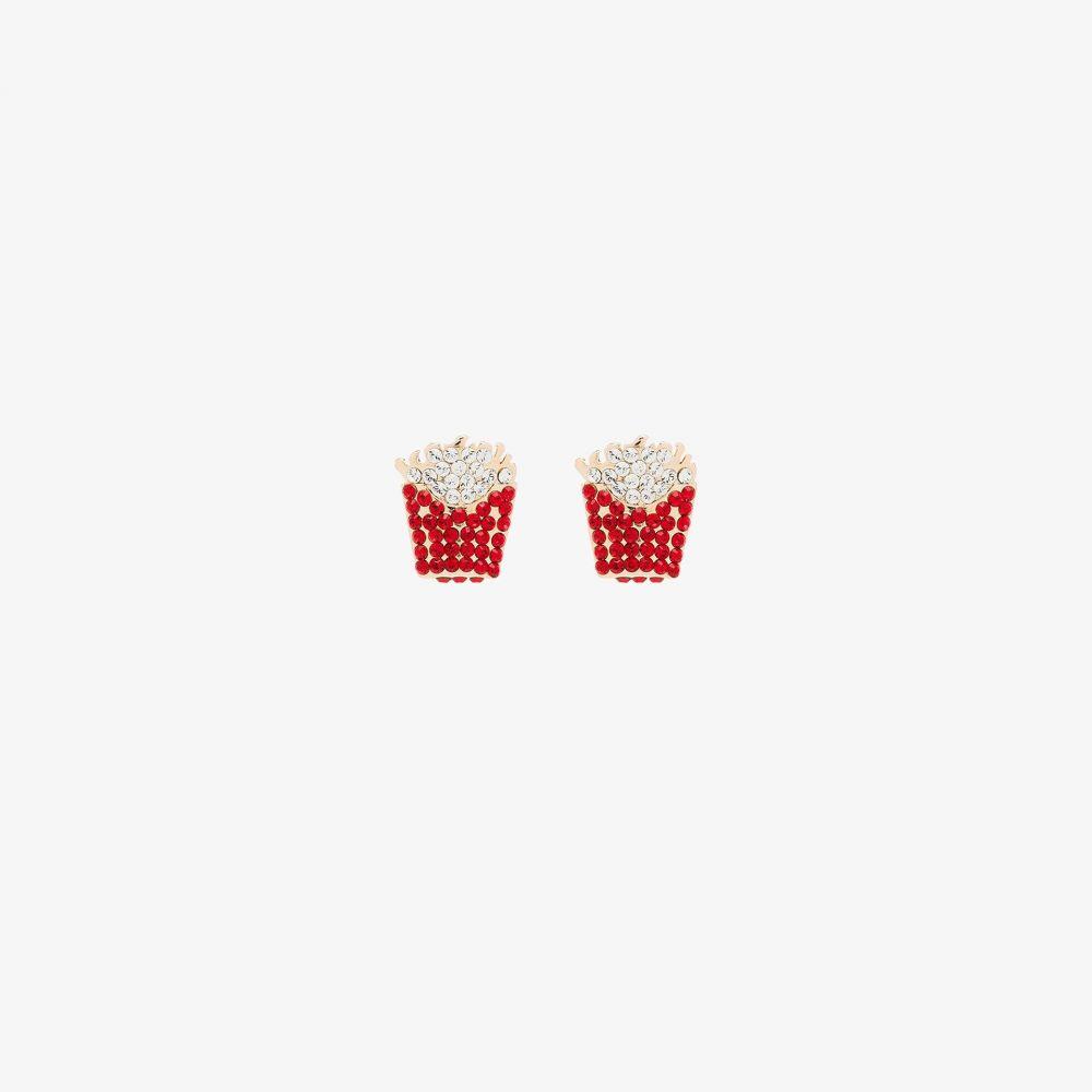 ブラウンズ Browns X Sara Shakeel レディース イヤリング・ピアス ジュエリー・アクセサリー【red and gold tone crystal fries earrings】red