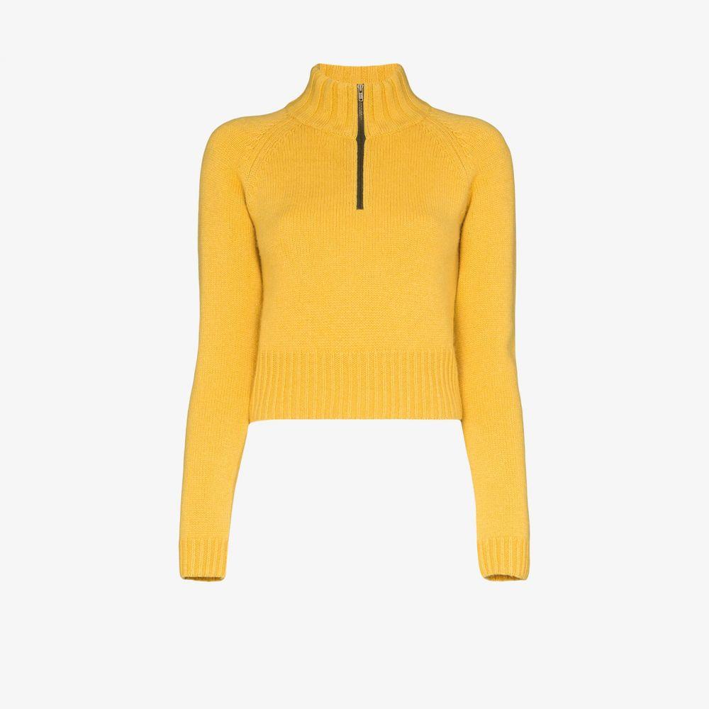バイエニィアザーネーム By Any Other Name レディース ニット・セーター トップス【high neck zipped cashmere sweater】yellow