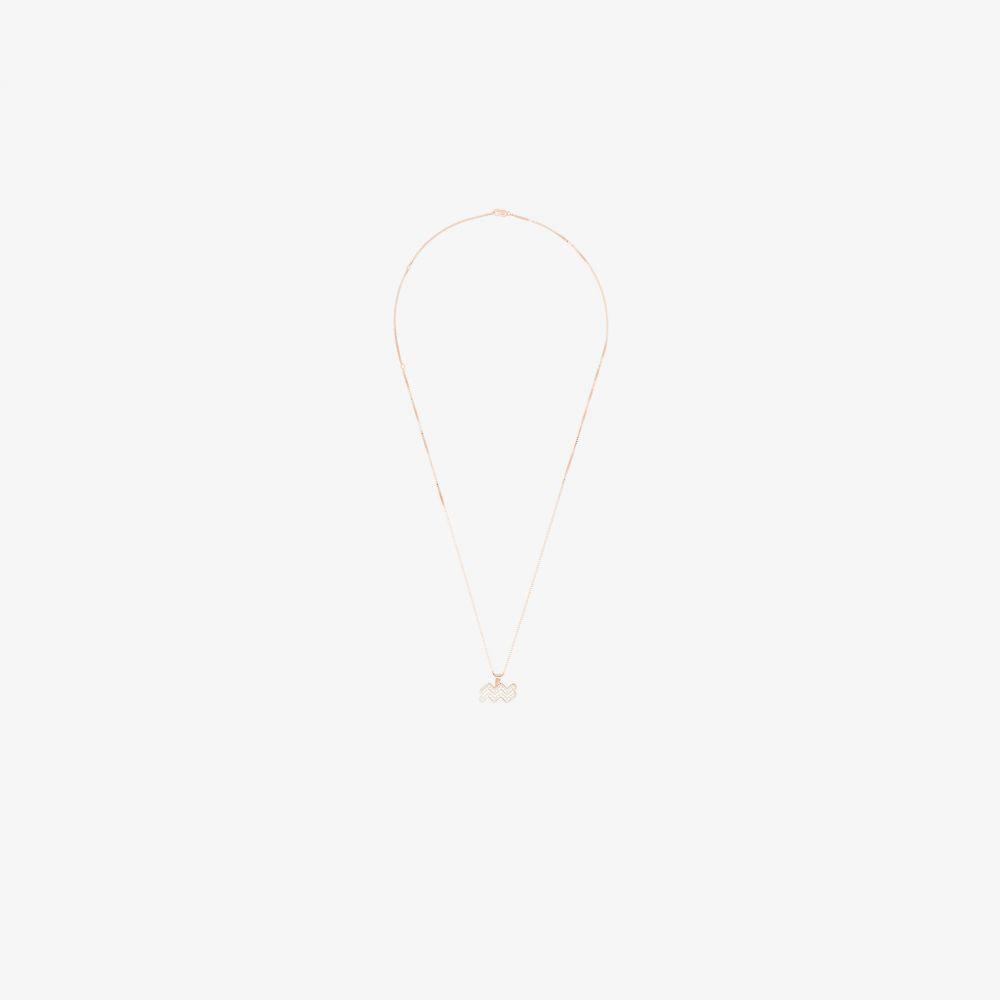 ブラウンズ Browns X The Dan Life レディース ネックレス ジュエリー・アクセサリー【rose gold-plated Aquarius crystal necklace】