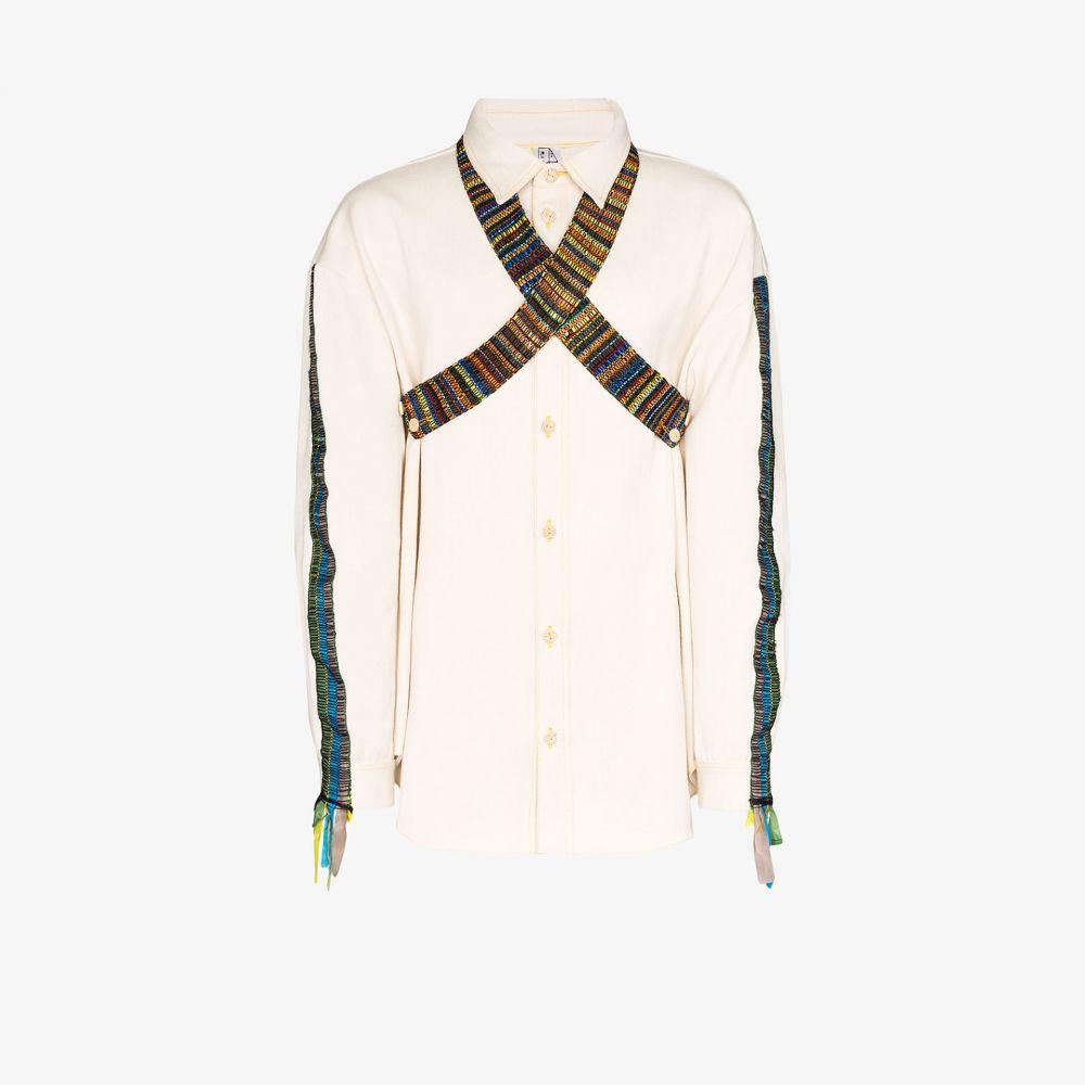べサニー ウィリアムズ Bethany Williams メンズ シャツ トップス【Tent woven cotton shirt】neutrals