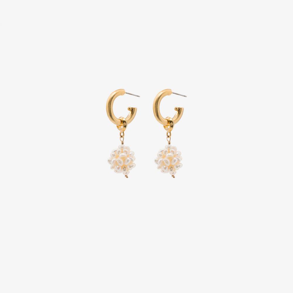 ブリンカー&エリサ Brinker & Eliza レディース イヤリング・ピアス ジュエリー・アクセサリー【gold-plated Greta pearl drop hoop earrings】gold
