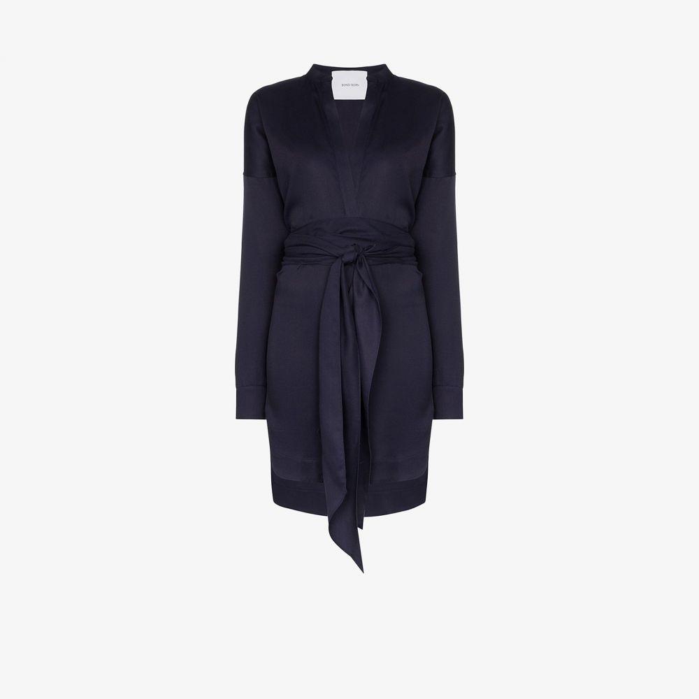 ボンダイボーン Bondi Born レディース パーティードレス Vネック ラップドレス ミニ丈 ワンピース・ドレス【V-neck wrap mini dress】blue