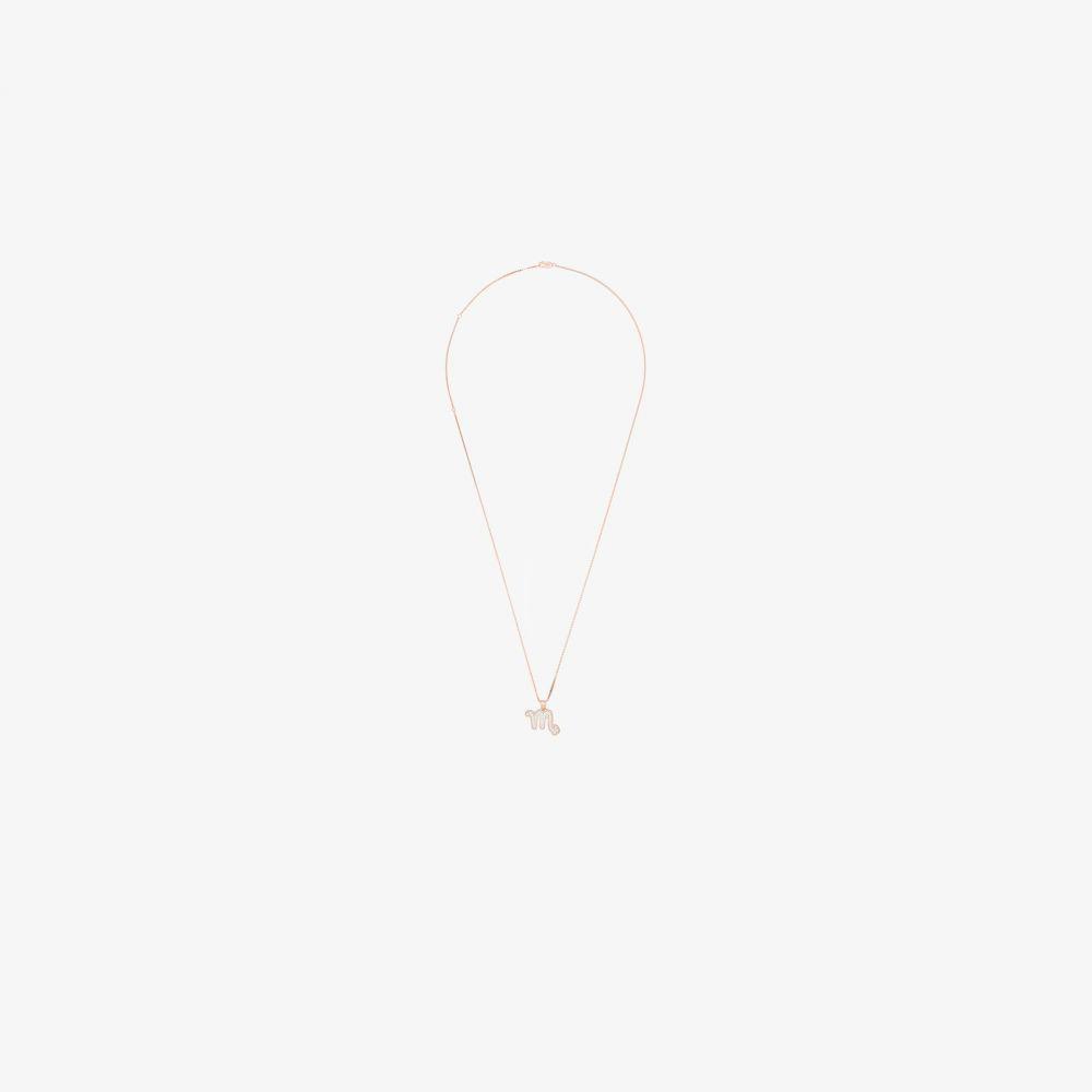 ブラウンズ Browns X The Dan Life レディース ネックレス ジュエリー・アクセサリー【Rose Gold-Plated Scorpio crystal necklace】gold
