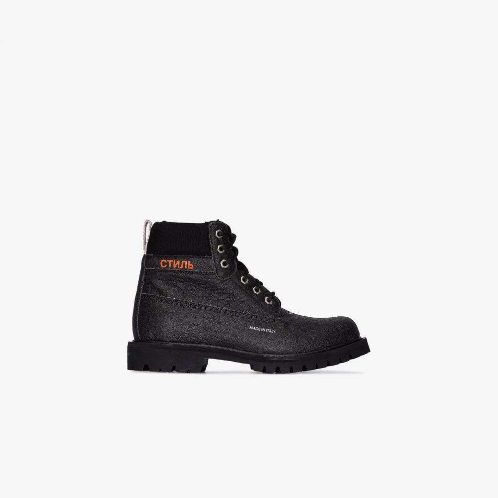 ヘロン プレストン Heron Preston レディース ブーツ ショートブーツ レースアップブーツ シューズ・靴【black lace-up ankle boots】black
