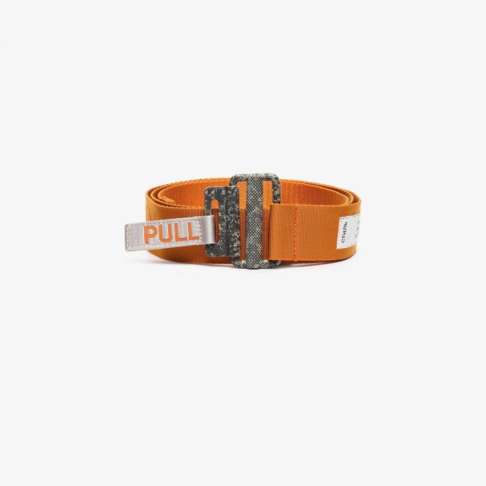ヘロン プレストン Heron Preston メンズ ベルト 【orange grosgrain logo tape belt】orange