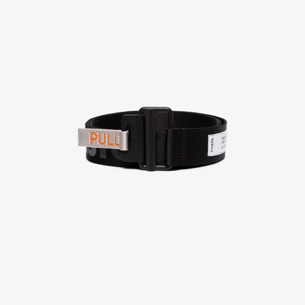 ヘロン プレストン Heron Preston メンズ ベルト 【black and grey Tape logo belt】black