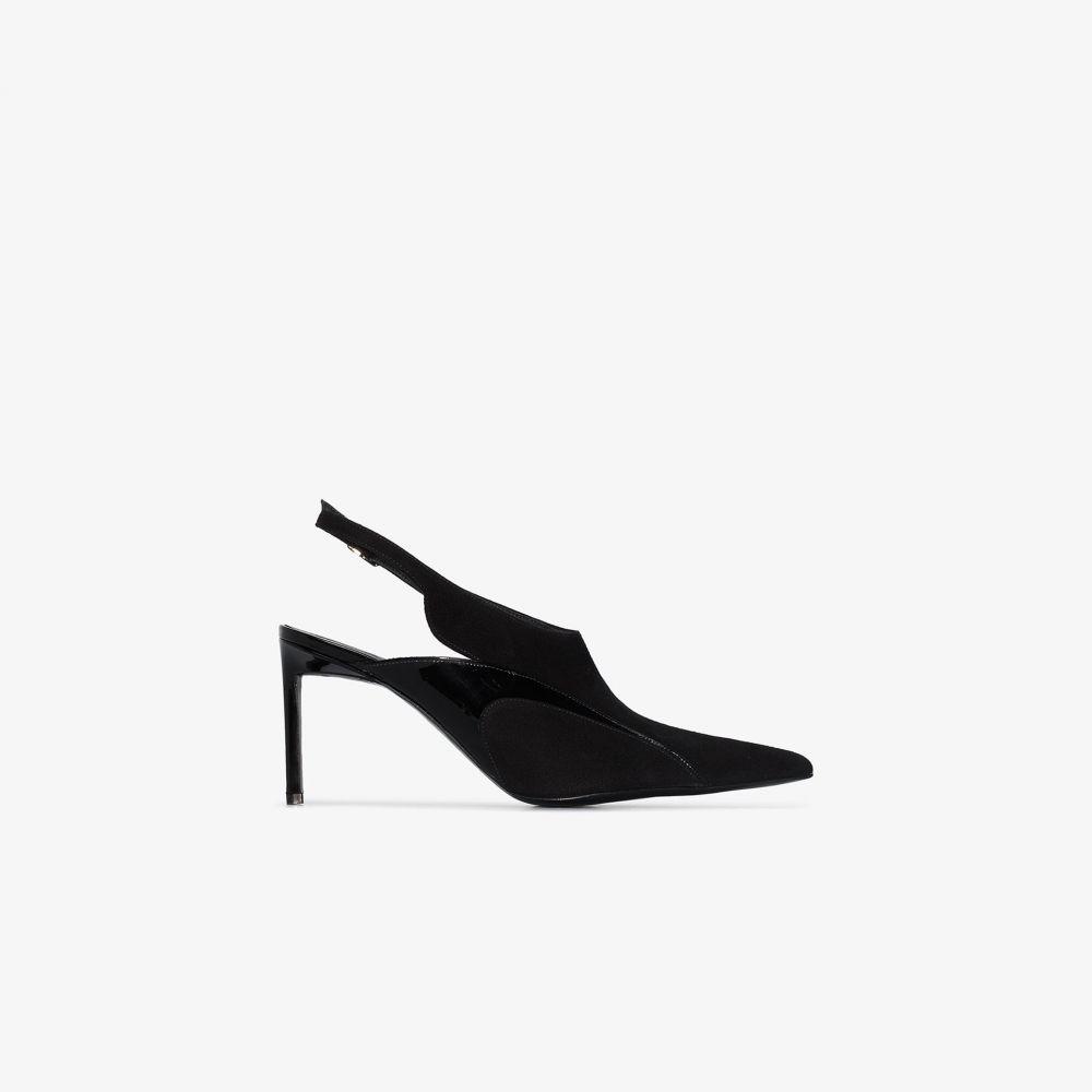ハイダー アッカーマン Haider Ackermann レディース パンプス シューズ・靴【black patent trim suede slingback pumps】black