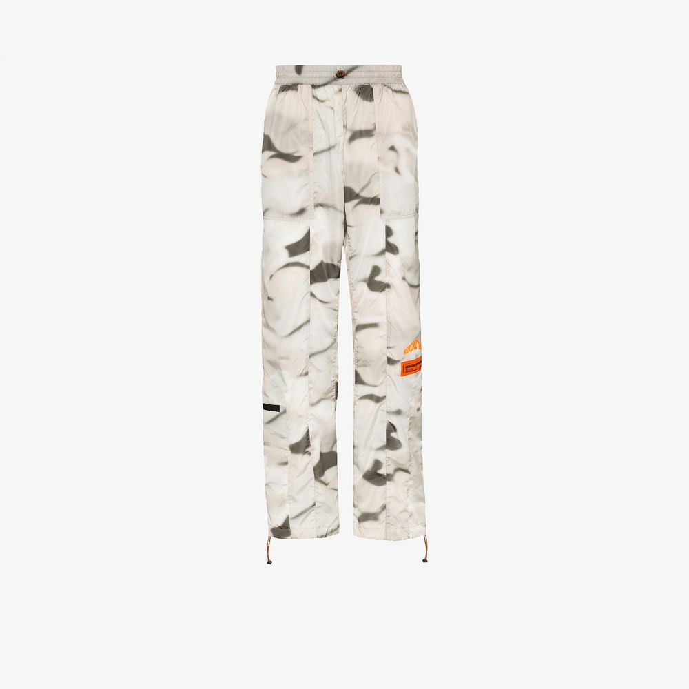 ヘロン プレストン Heron Preston メンズ スウェット・ジャージ ボトムス・パンツ【camouflage print track pants】orange