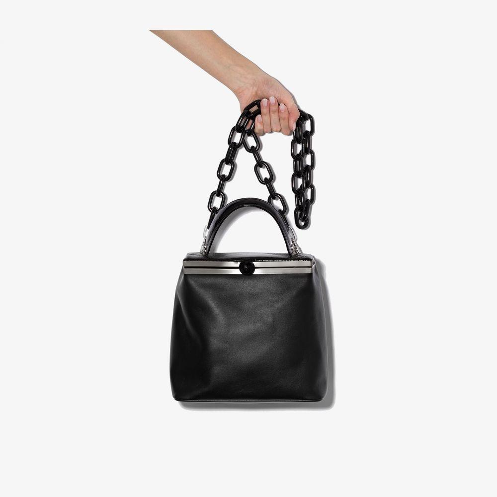 Gu_de レディース ショルダーバッグ バッグ【black Dolly leather shoulder bag】black
