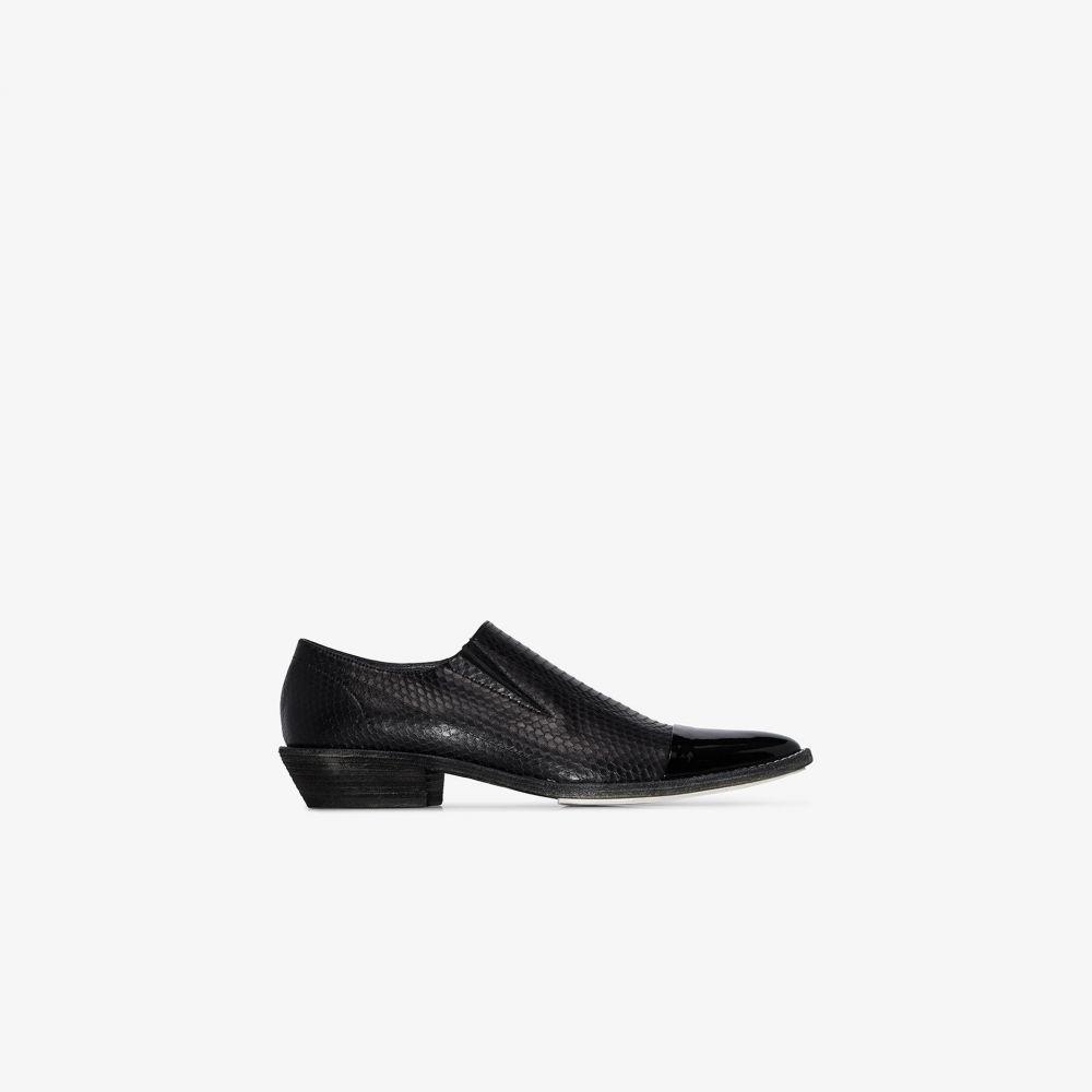 ハイダー アッカーマン Haider Ackermann メンズ ローファー シューズ・靴【black snake print leather loafers】black