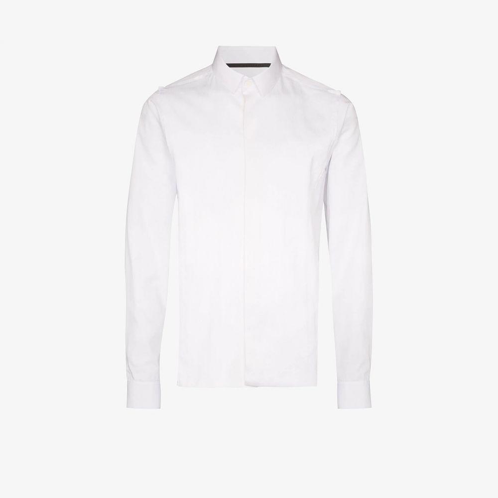 ハイダー アッカーマン Haider Ackermann メンズ シャツ トップス【seam detail cotton shirt】white