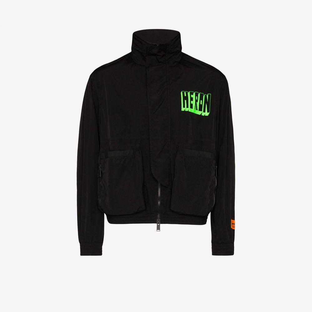 ヘロン プレストン Heron Preston メンズ ジャケット アウター【logo print jacket】black