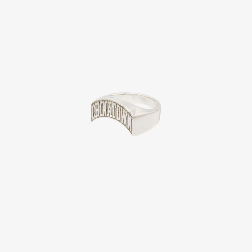 ハットンラボ Hatton Labs メンズ 指輪・リング ジュエリー・アクセサリー【X Chinatown Market sterling silver logo signet ring】silver