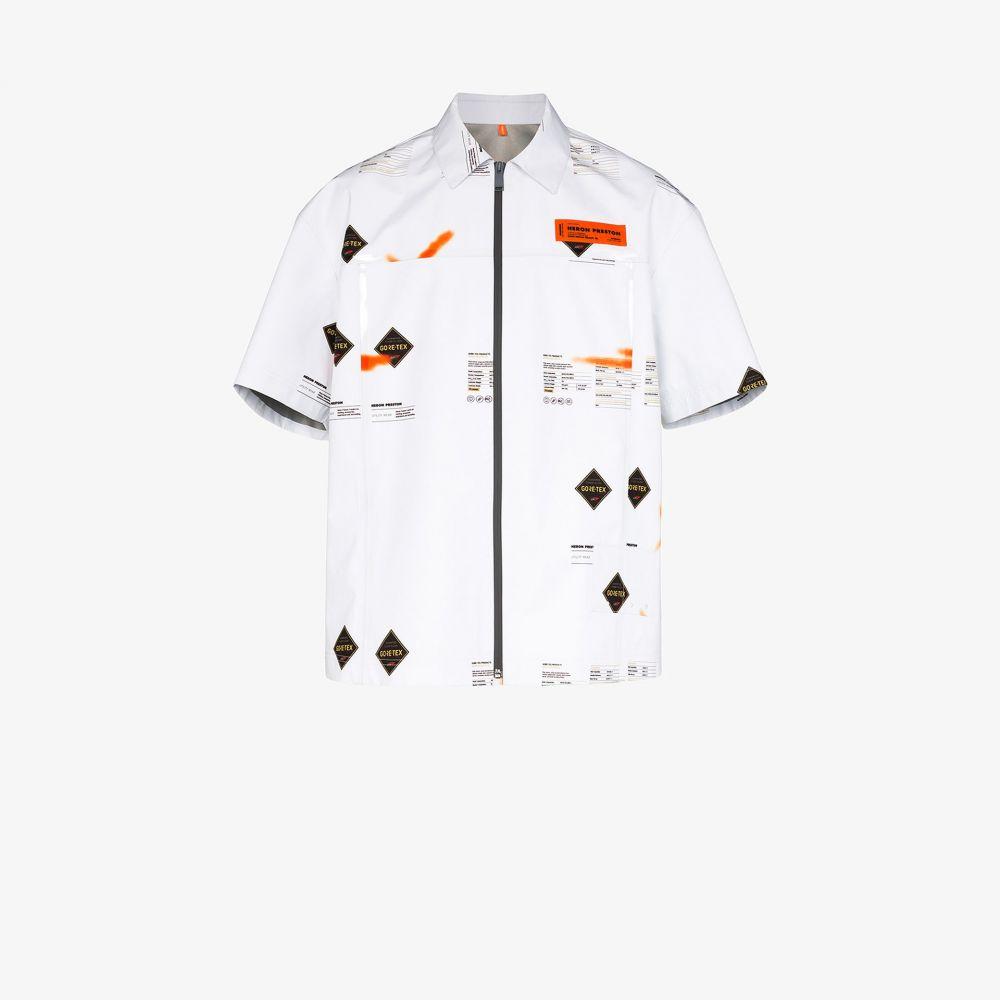 ヘロン プレストン Heron Preston メンズ シャツ トップス【GORE-TEX logo print shirt】white