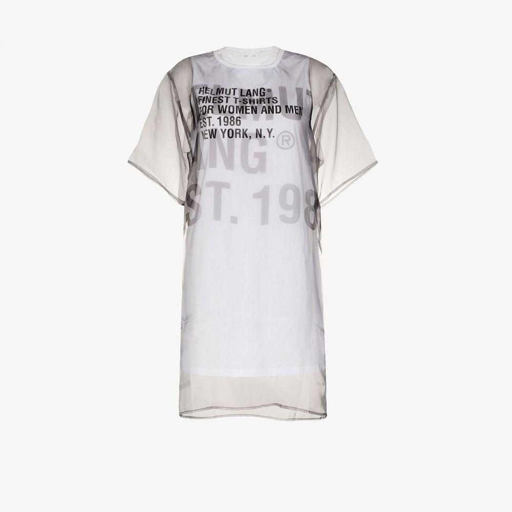 ヘルムート ラング Helmut Lang レディース ワンピース Tシャツワンピース ワンピース・ドレス【sheer overlay T-shirt dress】white