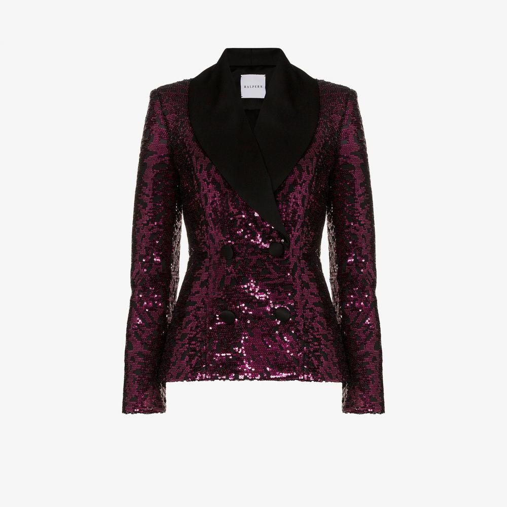 ハルパーン Halpern レディース スーツ・ジャケット アウター【satin lapel sequin blazer】pink