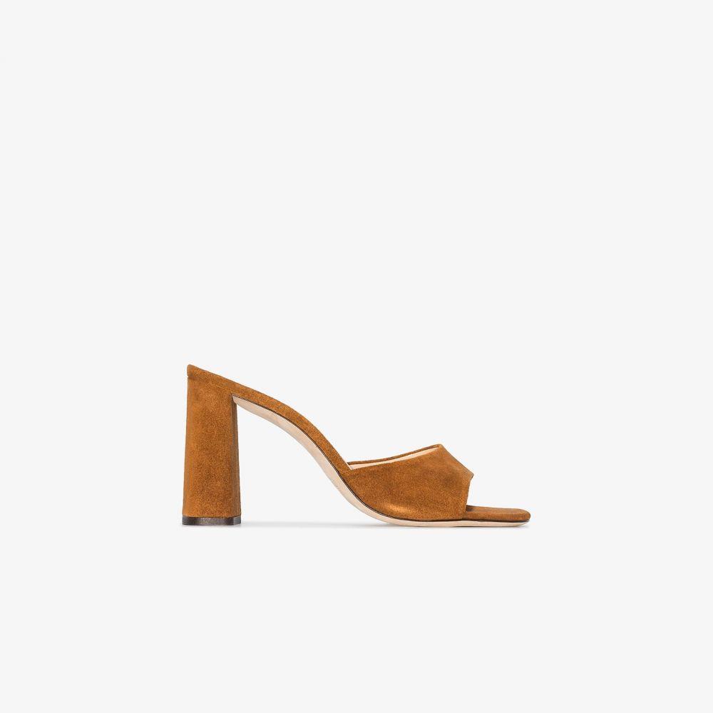 バイ ファー BY FAR レディース サンダル・ミュール シューズ・靴【Brown Juju 95 Suede Leather Mules】brown